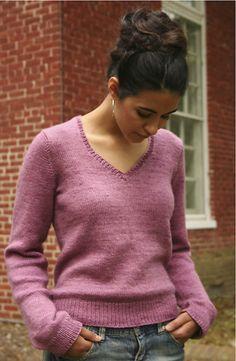 Ravelry: #106 Silky V-Neck Sweater pattern by Phoenix Bess
