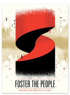 Foster the People concert poster by Delicious Design League