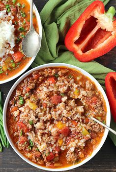 This Paleo Whole30 Stuffed Pepper Soup is easy to make and so hearty. All the flavors of a stuffed pepper in soup form. Gluten free, dairy free, and low FODMAP. Made in the Instant Pot or on the stove top. I'm back with another amazing soup. They are definitely a favorite of mine during the cold