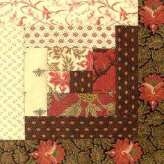 Love French General fabric - Moda 12 Block Log Cabin JORDAN PRE-CUT Quilt Kit 29x39 French General JOSEPHINE