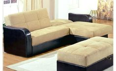 Modern Sofa With Good Design, And Have A Brown And Black, With The Decor Of The Room That Has A Luxurious Beige Carpet