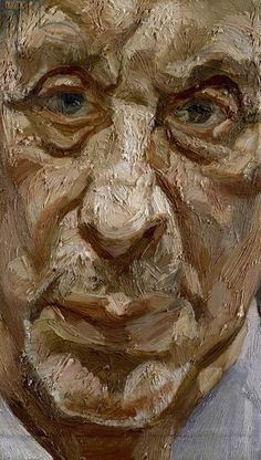 Face of a Man, 1994 (oil on canvas) Lucian Freud Sigmund Freud, Lucian Freud Paintings, Lucian Freud Portraits, Life Drawing, Painting & Drawing, George Grosz, Art Brut, Portrait Art, Painting Portraits