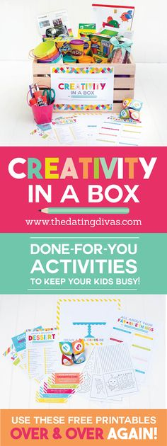 FREE printables to keep the kids busy being creative. So much better than just watching TV all summer. Love this!