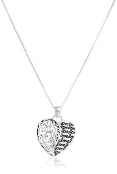 Sterling Silver Mother and Son Forever Heart Pendant Necklace 18 >>> You can find more details by visiting the image link.