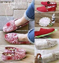 Painted toms - DIY