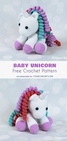 Baby Unicorn Free Crochet Pattern