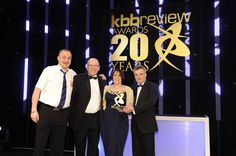 Space Fitting Furniture receiving their award for best Kitchen showroom in the UK