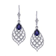 Are you searching for a dangle gemstone earring? See the workmanship in the tear drop sapphire earrings created by the artisans at Jewelry Designs. Black Diamond Earrings, Sapphire Jewelry, Sapphire Earrings, Gemstone Earrings, Dangle Earrings, Starfish Earrings, Circle Earrings, Beautiful Earrings, Vintage Jewelry