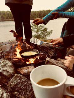~ Muskoka Mornings ~ Chocolate Fondue, Mornings, Camping, Ethnic Recipes, Desserts, Food, Campsite, Tailgate Desserts, Deserts