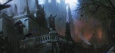 Dark Castle by Stefan Celic Dark castle Fantasy castle Fantasy landscape
