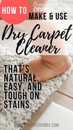 Homemade Dry Carpet Cleaner cleaner homemade cleaning hacks ideas runner on stairs stain remover Dry Carpet Cleaning, Deep Cleaning Tips, House Cleaning Tips, Diy Cleaning Products, Cleaning Hacks, Daily Cleaning, Kitchen Cleaning, Cleaning Solutions, Natural Carpet Cleaners