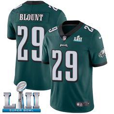 a973af586 Nike Eagles  29 LeGarrette Blount Midnight Green Team Color Super Bowl LII  Men s Stitched NFL