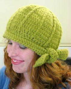 Crochet Hat Green hat Pattern {free}