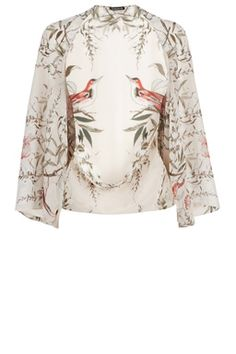 This printed cover-up is constructed from a lightweight woven fabric and features an open front, kimono sleeves and all-over bird print. Height of model shown: 5ft 10 inches/178cm. Model wears: UK size 10.Fabric:Main: 100.0��0Polyester.Wash care:Machine WashProduct code: 02372301 Price: £25.00