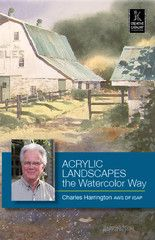 Acrylic Landscapes the Watercolor Way with Charles Harrington | http://ccpvideos.com/products/cph1d | Join Charles Harrington in Acrylic Landscapes, the Watercolor Way and learn how to capitalize on the unique advantages of acrylics including the ability to layer opaque, translucent and transparent effects.