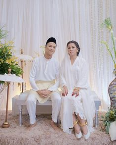 Kaka(artist malaysia)'s wedding Minimal Wedding Dress, Minimalist Wedding Dresses, Classic Wedding Dress, Dream Wedding Dresses, Wedding Coat, Malay Wedding Dress, Muslimah Wedding Dress, Akad Nikah, Ethereal Wedding