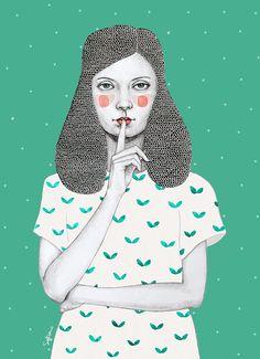 Sofia Bonati - Illustration - Lorena (Girls series)