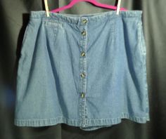 Womens Skort size 3X 24W Denim Karen Scott 100% Cotton #KarenScott #Skorts