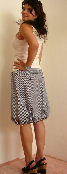 Návod a střih na balonovou sukni Diy Clothes, Short Dresses, Mini Skirts, Sewing Ideas, Women, Fashion, Diy Clothing, Short Gowns, Moda