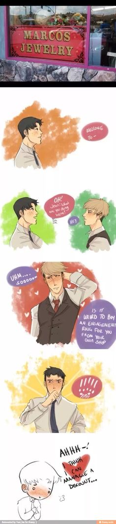 ((YES MORE JEAN AND MARCO JEANMARCO YES I SHIP THIS SO HARD HAVE A LOVELY JEANMARCO COMIC OKAY BYE))