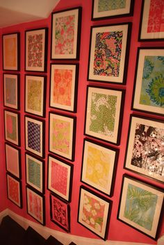 Lilly samples on wall