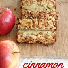 Cinnamon Apple Bread quadrupled apples and integrated into batter. less cinn-sugar