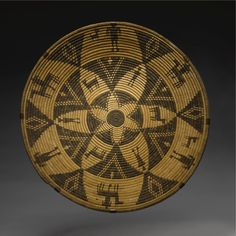 LARGE WESTERN APACHE COILED PICTORIAL TRAY