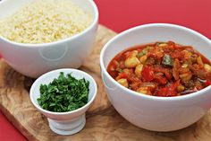 Spanish Chickpea Stew Served With Toasted Couscous Recipe | Yummly