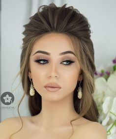 Simple and elegant makeup - Haare - Elegant Hairstyles, Formal Hairstyles, Wedding Hairstyles, Simple Party Hairstyles, Simple Hair Updos, Elegant Makeup, Simple Makeup, Simple Bridal Makeup, Eye Makeup