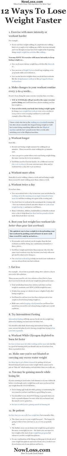 12 ways to lose weight faster or how to break out of a weight loss plateau