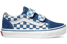 a767e5e367941a These classic Vans Checkerboard Old Skool V True Navy Bonnie Blue are fun  and stylish