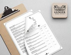 """Check out new work on my @Behance portfolio: """"Beer Menu for Gloger Brewery"""" http://be.net/gallery/36511639/Beer-Menu-for-Gloger-Brewery"""