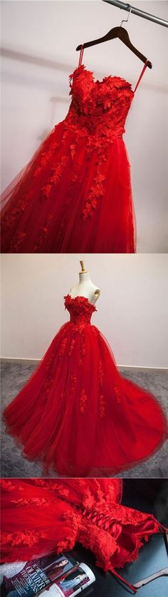 Sexy Prom Dresses Sweetheart Ball Gown Lace Prom Dress/Evening Dress JKL088 #eveningdresses