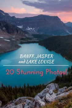 Visit Banff, Jasper and Lake Louise -- and you'll be smitten with Rocky Mountain Fever! The only cure is to return and visit once again this world-renowned region in Canada's Rocky Mountains. These 20 stunning photos of Banff, Jasper and Lake Louise will make you want to visit now!: