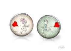 Ohrstecker+Liebe+-+love+is+in+the+air+20+von+c'belle+auf+DaWanda.com