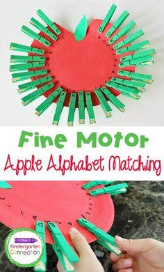 Apple Activities Kindergarten, Abc Activities, Preschool Projects, Autumn Activities, Letters Kindergarten, Preschool Learning, Kindergarten Goals, Preschool Rooms, Learning The Alphabet