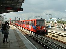 Docklands Light Railway - Wikipedia, the free encyclopedia Croydon Tram, Docklands Light Railway, London Overground, London Transport, Hong Kong, Transportation, City, Trains, Christmas