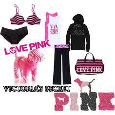 """LOVE PINK"" -- active & sleep wear"