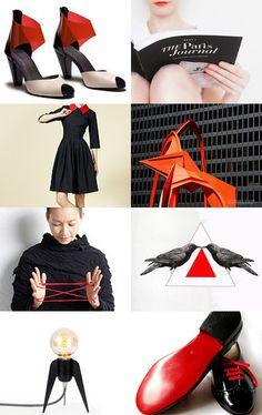 red Red, Etsy, Image, Black, Fashion, Red Black, Moda, Black People, Fashion Styles