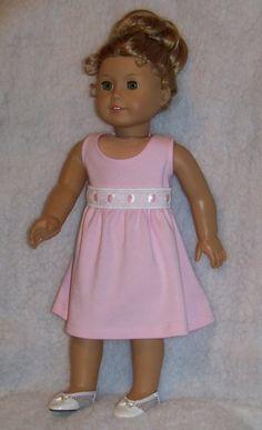 American Girl Doll Pink Sleeveless Summer Dress by Lynniejo, $11.95