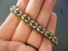 Pattern for SuperDuo Rosette Bracelet by WescottJewelry on Etsy, $5.00