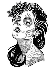 Sugar Skull Girl Coloring Pages one of the most popular coloring page in Sugar Skull category. Explore more coloring pages like Sugar Skull Girl Coloring Pages from the Coloring. Skull Coloring Pages, Pattern Coloring Pages, Coloring Pages For Girls, Colouring, Adult Coloring, Coloring Books, Sugar Skull Mädchen, Sugar Skull Tattoos, Los Muertos Tattoo