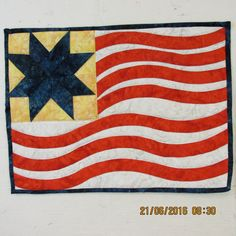 Old Glory Waves wallhanging by carmenjass on Etsy