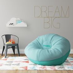 A Jumbo Two Tone Removable Cover Bean Bag From Pillowfort Can Take Anything Your