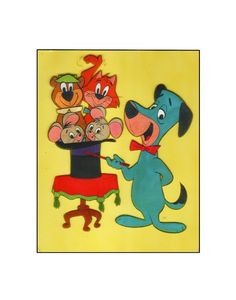 The Huckleberry Hound Show 1959 Hanna Barbera animation sericel Huckleberry Finn, Hanna Barbera, New Art, Scooby Doo, Art Gallery, Animation, Drawings, Painting, Fictional Characters