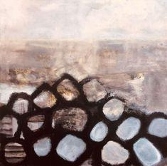 Maleen Rosel - Abstrakt maleri i jordfarver.