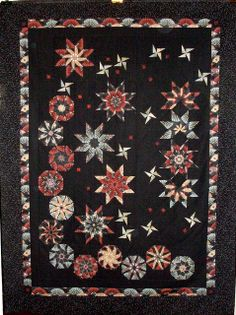 Stack n Wack Quilt!  So nice.  T-Midnight Stars by Linda Rotz Miller