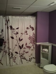 Purple bathroom! The one girly spot besides ladybugs room. Will look great with the greys