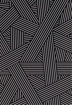 GRAPHIC NOISE The legacy of Bauhaus lives on in graphic black, white and grey / Splicing stripes / Dark, surreal feel with heavy, imposing shadows / Stripes break out into loose, wavy lines / Maze of graphic lines / Stripes also built into type to crea Geometric Pattern Design, Geometric Designs, Design Patterns, Line Design Pattern, Geometrical Design Drawing, Stripes Design, 3d Pattern, Stripe Pattern, Pattern Drawing