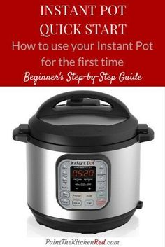 Instant Pot Quick Start Sidebar - Paint the Kitchen Red